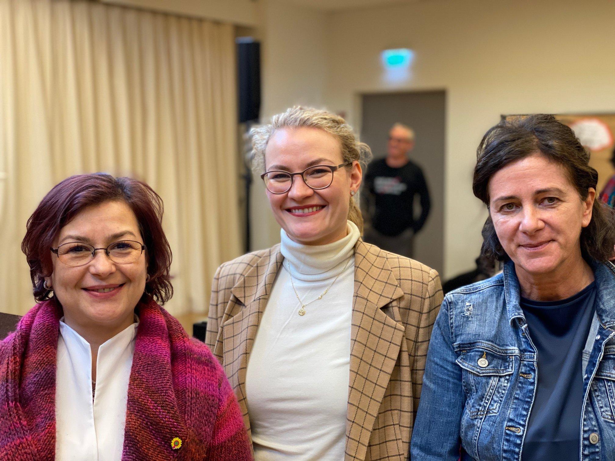 Gianina Zimmermann, Katharina Roßbach und Silvia Brünnel