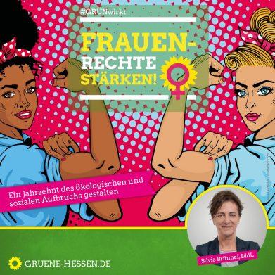 Bild mit Aufschrift Frauenrechte stärken